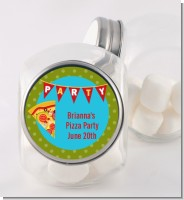 Pizza Party - Personalized Birthday Party Candy Jar