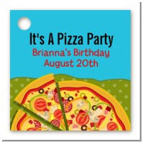 Pizza Party - Personalized Birthday Party Card Stock Favor Tags