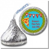 Pizza Party - Hershey Kiss Birthday Party Sticker Labels