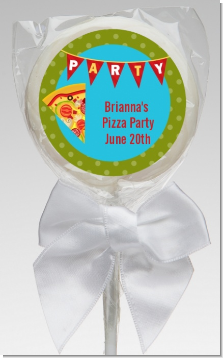 Pizza Party - Personalized Birthday Party Lollipop Favors
