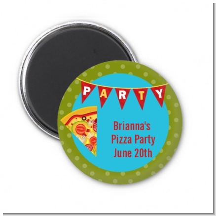 Pizza Party - Personalized Birthday Party Magnet Favors