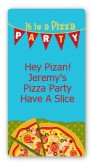 Pizza Party - Custom Rectangle Birthday Party Sticker/Labels