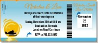 Sunset Trip - Bridal Shower Destination Boarding Pass Invitations