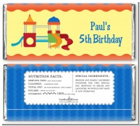 Playground - Personalized Birthday Party Candy Bar Wrappers