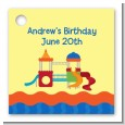 Playground - Personalized Birthday Party Card Stock Favor Tags thumbnail