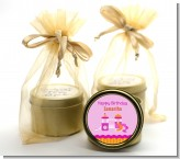 Playground Girl - Birthday Party Gold Tin Candle Favors