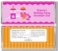 Playground Girl - Personalized Birthday Party Candy Bar Wrappers thumbnail