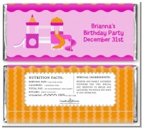 Playground Girl - Personalized Birthday Party Candy Bar Wrappers