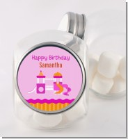Playground Girl - Personalized Birthday Party Candy Jar