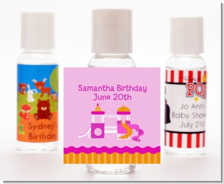 Playground Girl - Personalized Birthday Party Hand Sanitizers Favors