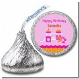 Playground Girl - Hershey Kiss Birthday Party Sticker Labels thumbnail