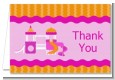 Playground Girl - Birthday Party Thank You Cards thumbnail