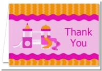 Playground Girl - Birthday Party Thank You Cards