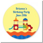 Playground - Round Personalized Birthday Party Sticker Labels