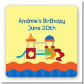 Playground - Square Personalized Birthday Party Sticker Labels