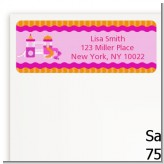 Playground Girl - Birthday Party Return Address Labels