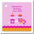 Playground Girl - Personalized Birthday Party Card Stock Favor Tags thumbnail