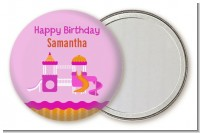 Playground Girl - Personalized Birthday Party Pocket Mirror Favors