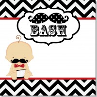 Little Man Mustache Black and Grey Baby Shower Theme