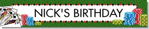 Casino Night Royal Flush - Personalized Birthday Party Banners