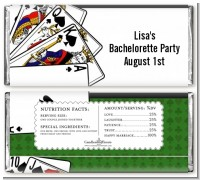 Casino Night Royal Flush - Personalized Bachelorette Party Candy Bar Wrappers