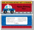Police Car - Personalized Birthday Party Candy Bar Wrappers thumbnail