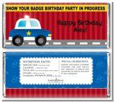 Police Car - Personalized Birthday Party Candy Bar Wrappers