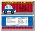 Police Car - Personalized Baby Shower Candy Bar Wrappers thumbnail