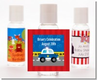 Police Car - Personalized Baby Shower Hand Sanitizers Favors