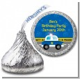 Police Car - Hershey Kiss Birthday Party Sticker Labels thumbnail