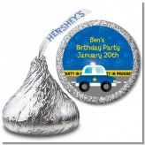Police Car - Hershey Kiss Birthday Party Sticker Labels