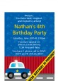 Police Car - Birthday Party Petite Invitations thumbnail