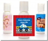 Police Car - Personalized Birthday Party Lotion Favors