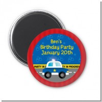 Police Car - Personalized Baby Shower Magnet Favors