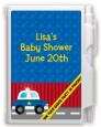 Police Car - Baby Shower Personalized Notebook Favor thumbnail