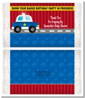 Police Car - Personalized Popcorn Wrapper Baby Shower Favors
