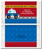 Police Car - Personalized Popcorn Wrapper Birthday Party Favors