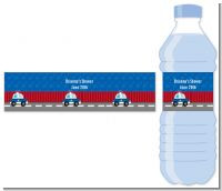 Police Car - Personalized Baby Shower Water Bottle Labels