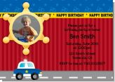 Police Car Photo Birthday Party Invitations