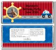 Police Car - Personalized Birthday Party Photo Candy Bar Wrappers thumbnail