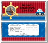 Police Car - Personalized Birthday Party Photo Candy Bar Wrappers