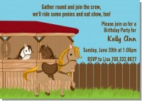Pony Brown - Birthday Party Invitations