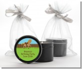 Pony Brown - Birthday Party Black Candle Tin Favors