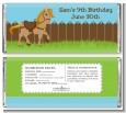 Pony Brown - Personalized Birthday Party Candy Bar Wrappers thumbnail