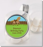 Pony Brown - Personalized Birthday Party Candy Jar