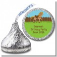 Pony Brown - Hershey Kiss Birthday Party Sticker Labels thumbnail