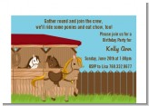 Pony Brown - Birthday Party Petite Invitations