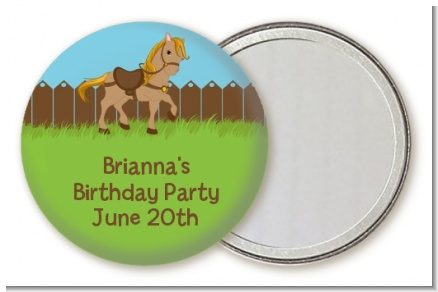 Pony Brown - Personalized Birthday Party Pocket Mirror Favors