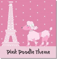 Poodle in Paris Baby Shower Theme