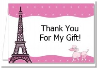 Pink Poodle in Paris - Birthday Party Thank You Cards
